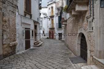 Alleyway. Putignano. Apulia.