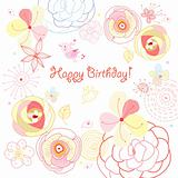 flower card birthday