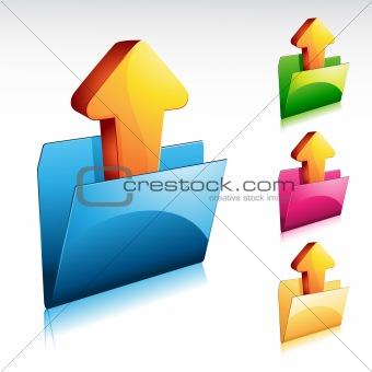 Folder Upload Icon