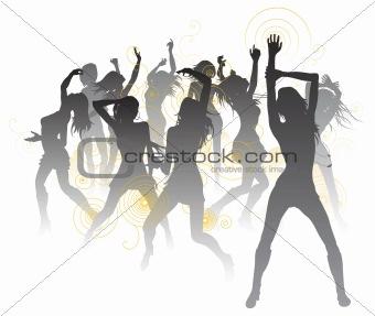 Beautiful dancers background