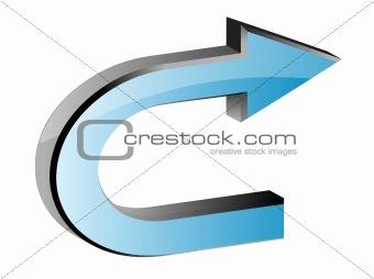 3D blue arrow