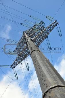 Modern power line. Energy issues