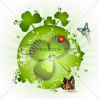 St. Patrick's Day card design