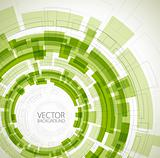 Abstract green technical background