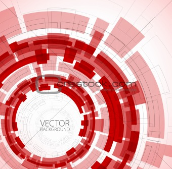 Abstract red technical background
