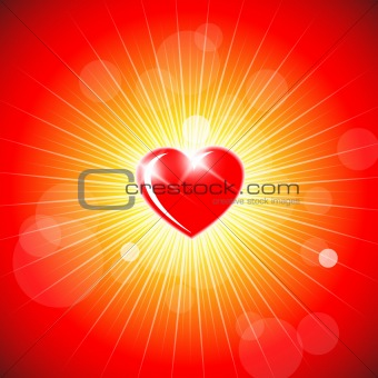 Background with red heart