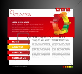 Modern web page template