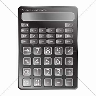 calculator against white