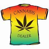 cannabis dealer tshirt