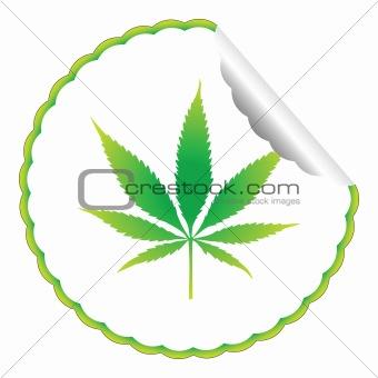 cannabis leaf label