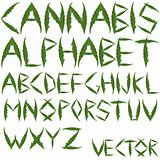 cannabis leafs alphabet