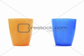 Blue And Orange Cups