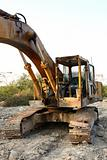 Heavy Duty Construction Equipment Parked at Worksite