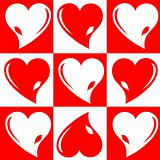 love wedding hearts background chess