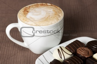 cappuccino and chocolate