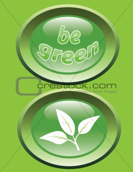 Be green_glossy buttons