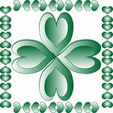 abstract leaf element for st. patrick's day