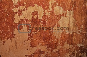 Old mottled plaster wall