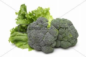 Broccoli and salad