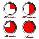 chronometers against white