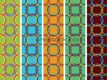 circles vertical seamless textures