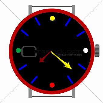 clock in colors