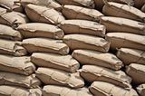 Stack of jute sacks