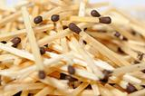 Background of many brown matches