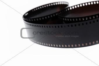 black photo film isolated on white background