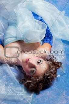 Beautiful girl like Snow White