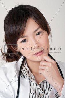 Attractive Asian female doctor