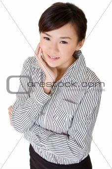 Beautiful Asian office lady
