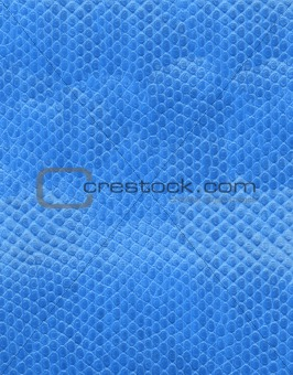 artificial blue leather