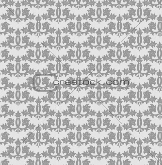 Seamless grey wallpaper pattern. Vector