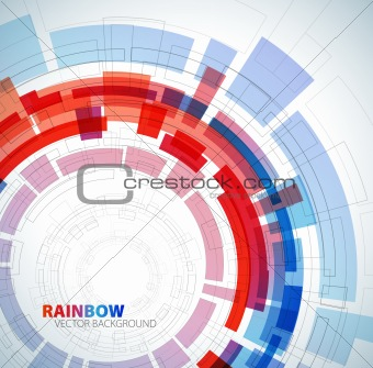 Abstract background with red and blue colors