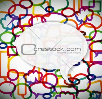 Colorful background made from speech bubbles