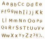 Teak alphabet