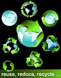 Eco, bio, green and recycle symbols