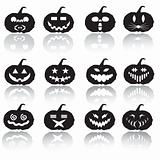 Halloween pumpkin silhouette collection