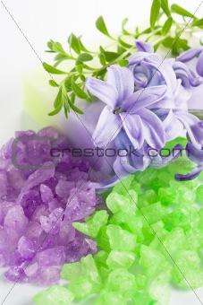 Aromatic bath salt and natural handmade soap