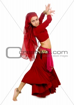 beautiful arabic belly dancer