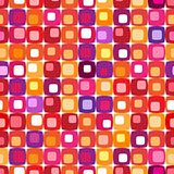 Retro colorful square pattern