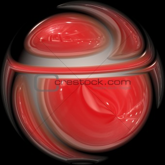 Artistic red glass sphere