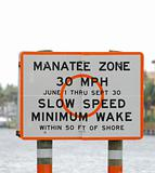 Manatee safety zone