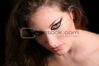 Intense look