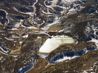 Aerial rural Colorado.