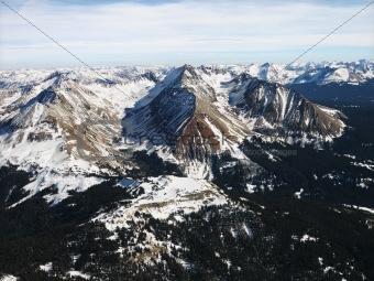 Rocky Mountain aerial.