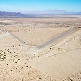 Landing strip in desert.