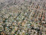 Aerial of urban sprawl.