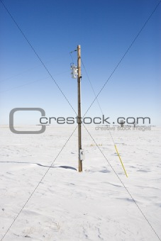 Power line and pole.